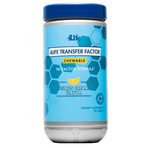 4Life Transfer Factor TRI-FACTOR formulė, kramtomos tabletės
