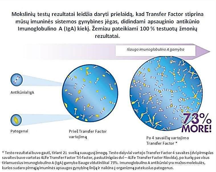 4Life Transfer Factor tyrimų rezultatai
